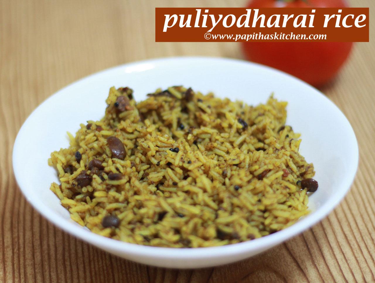 puliyodharai rice