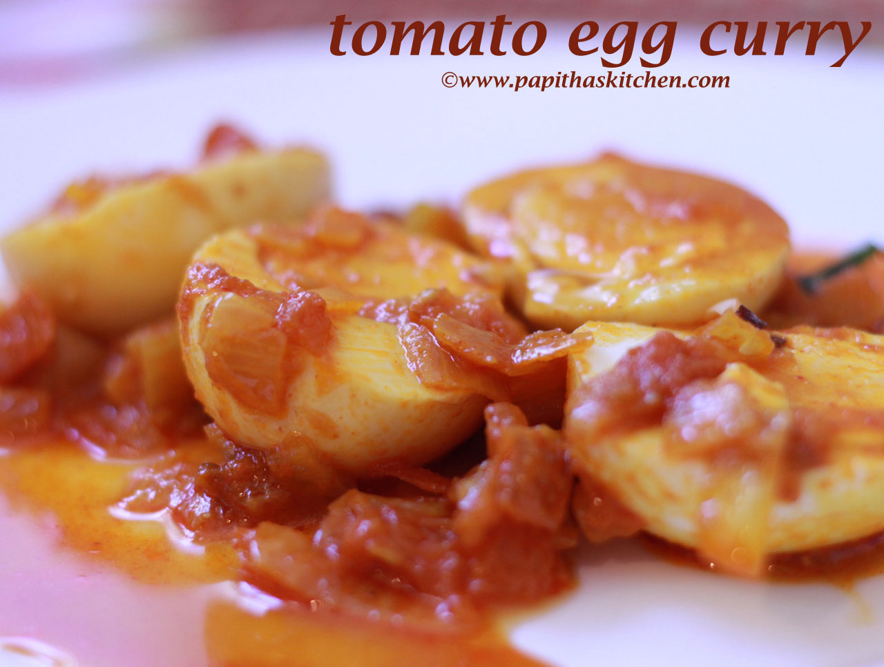 Tomato Egg curry