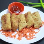 Easy Fresh Vegetable Spring Rolls Recipe | Indian Style