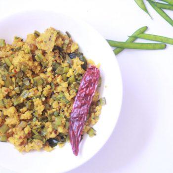 Kothavarangai Paruppu Usili Recipe | Iyengar Style