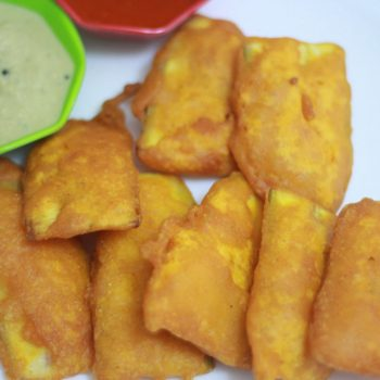 Vazhakkai Bajji Recipe | Raw Banana Bajji Recipe