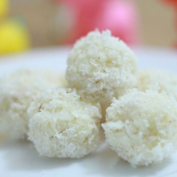 Desiccated Coconut Ladoo Recipe | Nariyal Ladoo