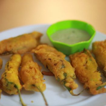 Stuffed Milagai Bajji Recipe | Chilli Bajji Recipe