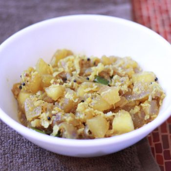 Easy Pumpkin Poriyal Recipe | Poosanikai Poriyal