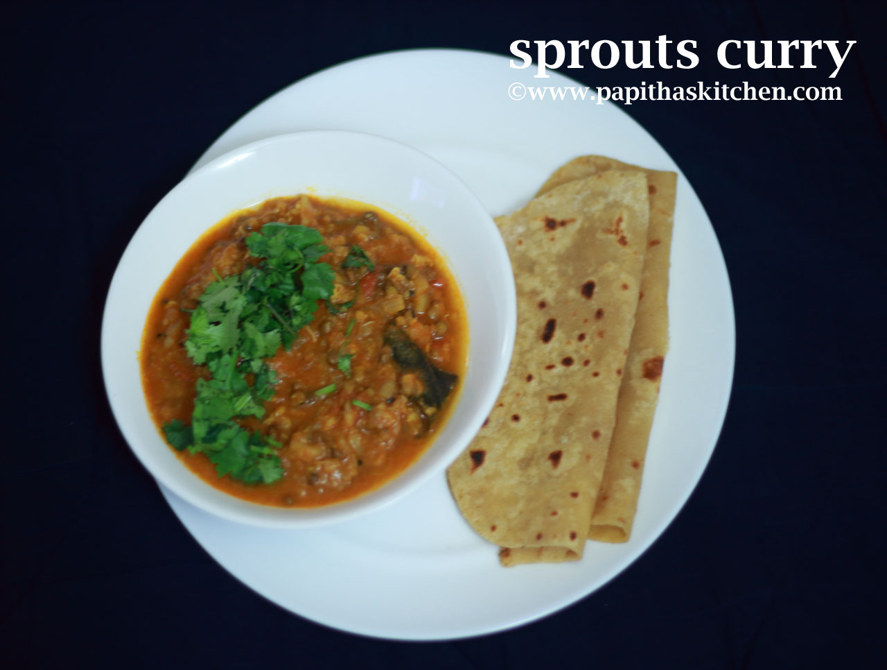 green gram sprouts curry