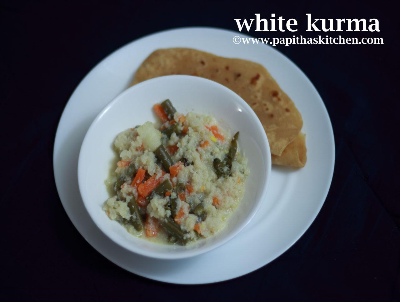 white kurma