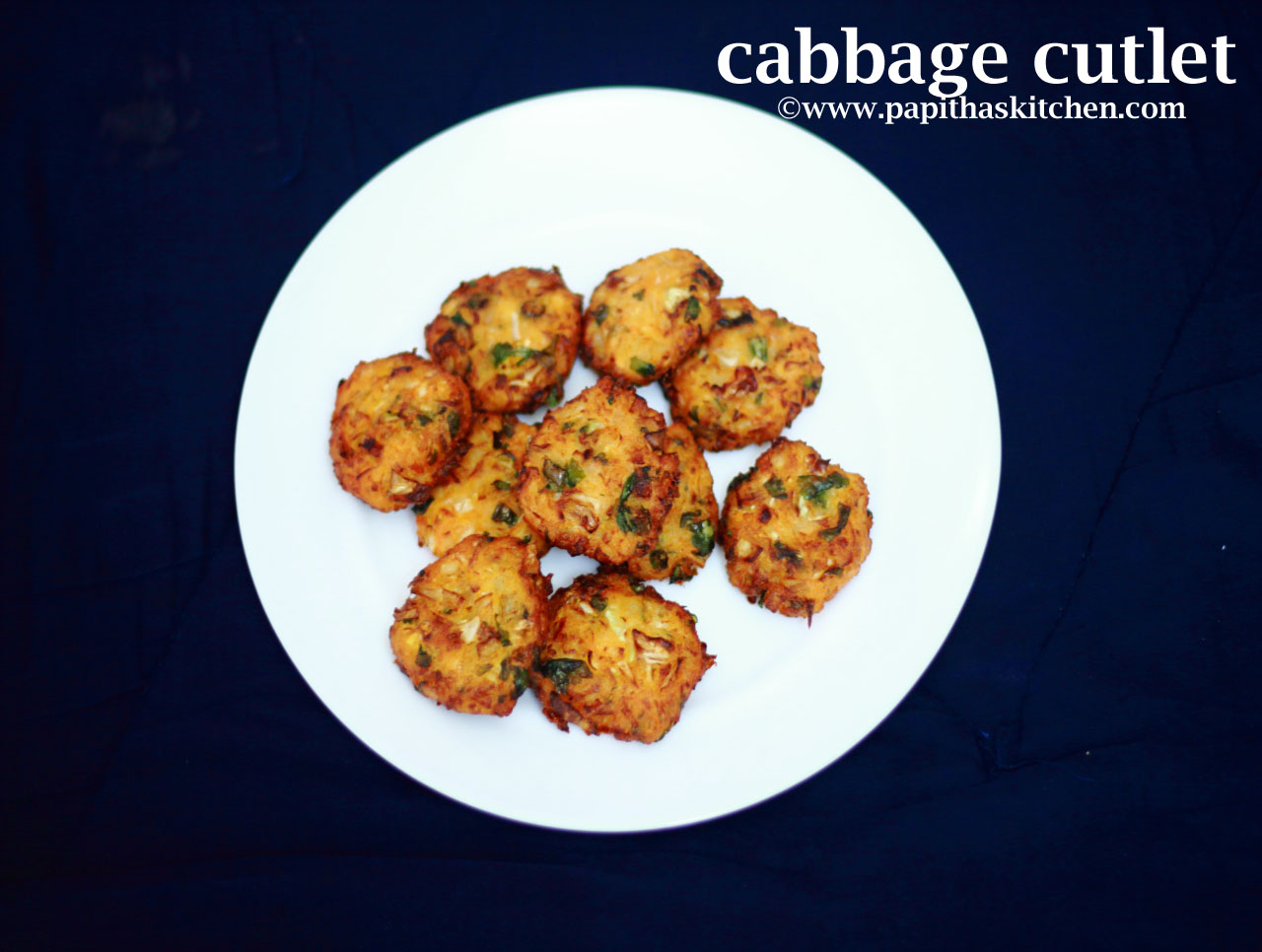 Cabbage Cutlet Recipe Snacks Recipe Papitha S Kitchen