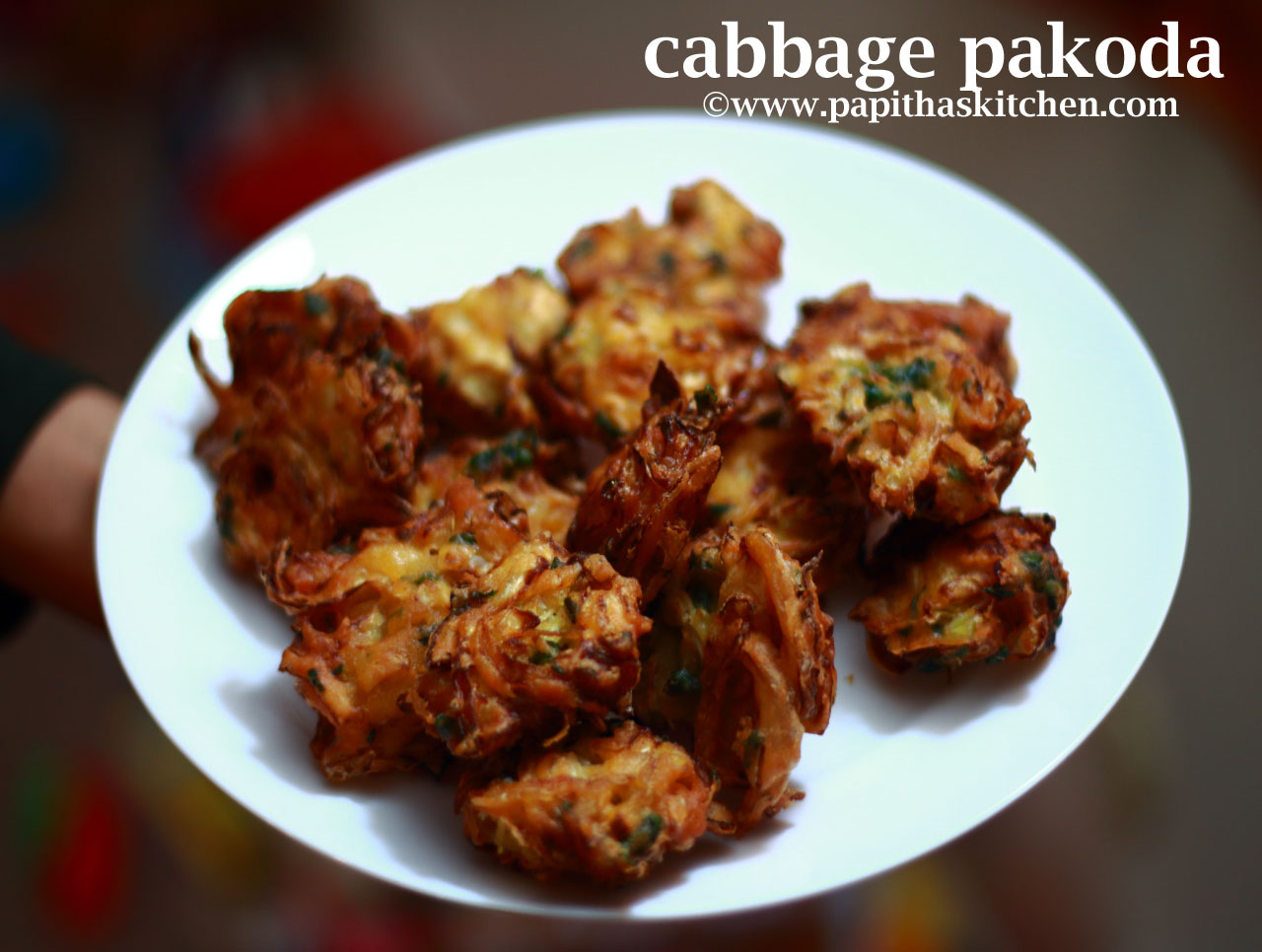 Cabbage Pakoda Recipe Snacks Recipe Papitha S Kitchen