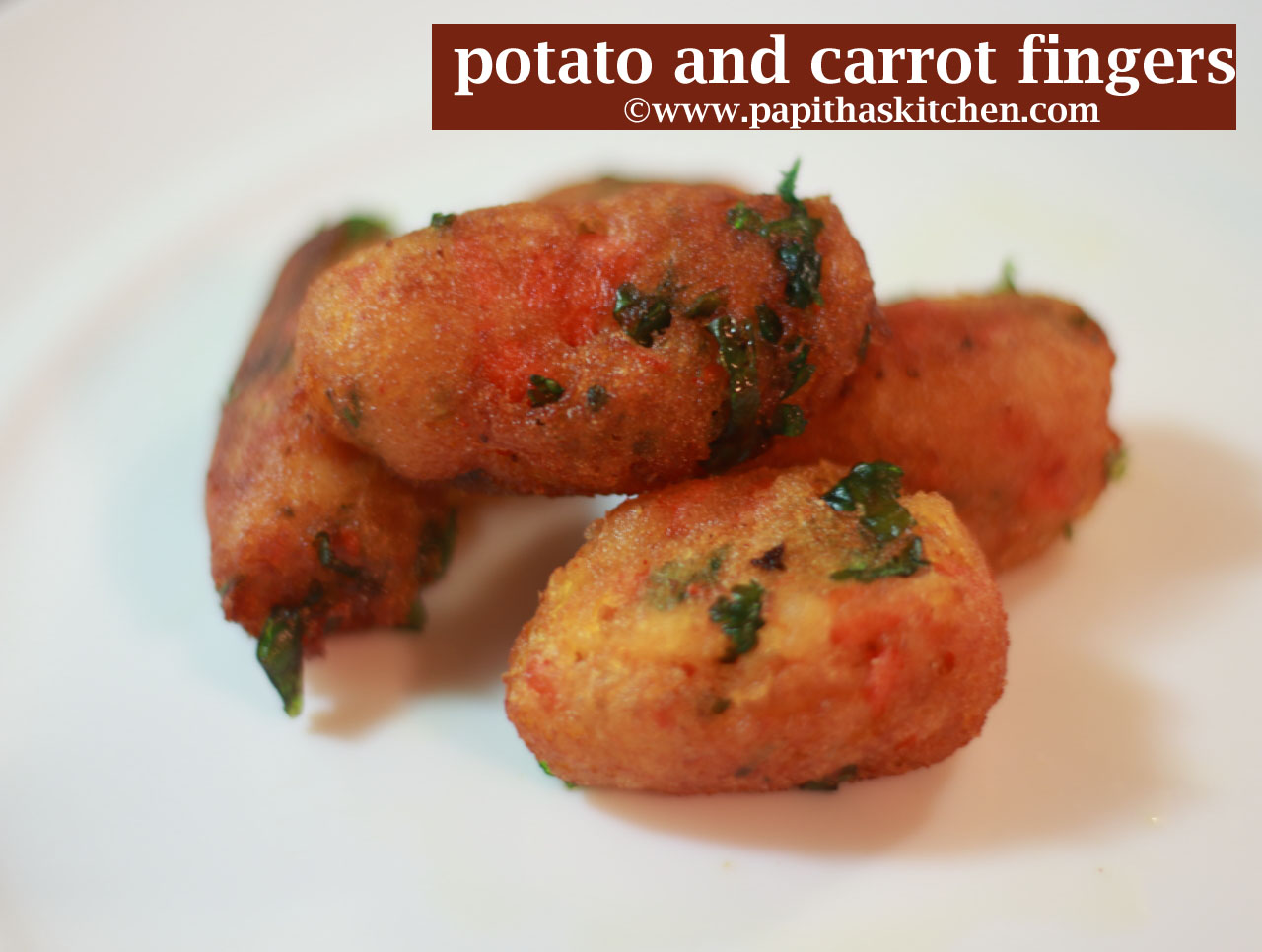potato and carrot fingers