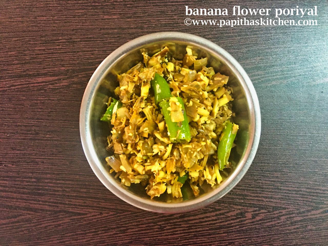 banana flower poriyal